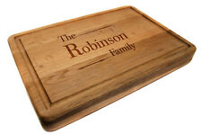 Personalised Premium Solid Oak Chopping Board, Laser Engraved with Any Names
