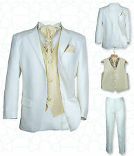 SIRRI Page Boys Formal Ivory Gold Wedding Suit, 5PC Boys Grey Suit Age 1 to 15