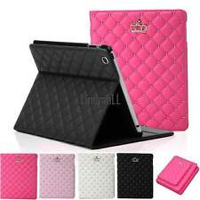 Fashion Fold Grid Cover Leather Smart Case Stand Housing Protector For ipad LM