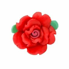 Fimo Polymer Clay Flower Beads - 18mm - Choose Colours (10 Per Pack)
