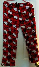 HELLO KITTY WOMEN'S PLUSH PAJAMAS PANTS NEW