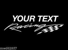 YOUR TEXT RACING WINDOW DECAL
