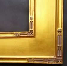 """Classic Plein Air Picture Frames Hand Applied Gold Leaf Finish 4 1/4"""" wide"""