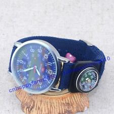 WOMAGE Compass Decoration Unisex Numerals Camouflage Womens Child Wrist Watch