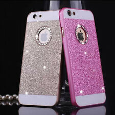 Bling Crystal Circle Logo Hard  Phone Case Cover for iPhone 6/ Plus iPhone5 5S