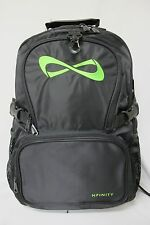 Nfinity Backpack Black with Neon Green Neon Pink White Logo Cheer Gym Bag