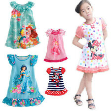 2015 Girls Kids Mickey Princess Pajamas Nightgown Sleepwear Minnie Party Dress