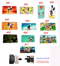 Disney Mickey Minnie Mouse leather case Samsung Note,Xperia,HTC,Nokia,LG G3