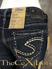 Womens SILVER BRAND Jeans Slim Bootcut AIKO with Fading & Wiskering!