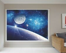 BLACKOUT PHOTO ROLLER BLINDS, PICTURE BLINDS, BLUE SPACE
