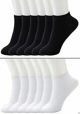 NEW Mens 12 Pairs Black Ankle Crew Socks Low Cut Size 9-11 10-13 LOT