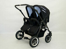 DOUBLE, TWIN PRAM WITH RAIN COVERS,CHANGING BAG,FOOT MUFFS,MOSQUITO NET