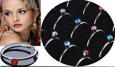 Tiny Nose Ring  Body Jewelry 316L Surgical Steel Rhinestone Studs US SELLER!!