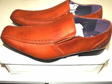 New Mens Tan Brown Slip On Smart Casual Formal Party Office Dress Shoes UK Sizes