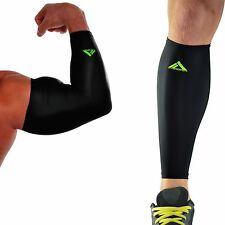 My Pro Supports Arm + Calf Compression Sports Sleeves Combo Running Basketball