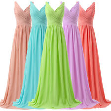 Comfy Maternity Long Chiffon Evening Party Formal Gown Bridesmaid Prom Dress NEW