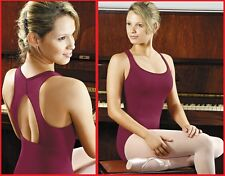 NEW! WOMENS DANCE BALLET LEOTARD WITH A TEARDROP BACK. 4 COLORS! (D263)