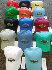 NEW 2015 MENS LACOSTE EMBROIDERED OVERSIZED CROC CAP HAT, PICK A COLOR
