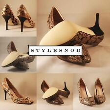 STYLESNOB COUTURE HEELS - MADE FROM REAL BENINE SNAKE SKIN, 100% LEATHER LINED