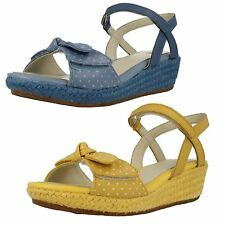 Girls Clarks Summer Wedge Sandals - Harpy Rita