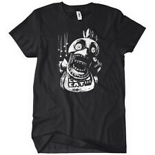 Chica FNAF Mens T-Shirt Five Nights at Freddy's Horror Video Game 3 Black Tee