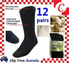 6 Pairs MEN MENS Thick Winter Warm Thermal Wool Heat WORK SOCKS Heavy Duty Bulk