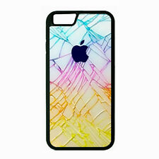 iPHONE 6 or 6 Plus CASE RUBBER COVER CRACKED GLASS