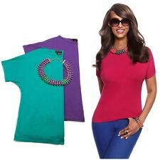IMAN Global Chic Glam to the Max 2 Tees & Jeweled Necklace Set 332147