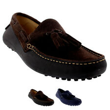 Mens H By Hudson Florio II Slip On Moccasins Tassel Suede Loafers Shoes UK 6-12