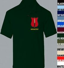 INFANTRY ITC CATERICK ARMY TRAINING SHORT LONG SLEEVE POLO SHIRT XS TO 5XL