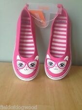 Gymboree Pink Rose CAT Kitty 3D EARS Skimmers Shoes Bright Ideas SZ ALL New