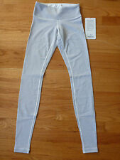 *NWT $82 Lululemon Wunder Under Pants Luon Tights Gym Yoga Gray Striped 2 4 6 8