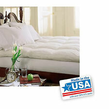Down Baffle Matress Pad Feather Bed Gussets Soft Bedroom Comforter Pillowtop 233