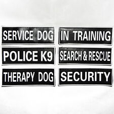 Velcro Patch Extra Label Tag for Dog Harness SERVICE THERAPY POLICE IN TRAINING