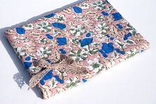 Dusky Pink Floral Pattern100% Cotton Seersucker  Fabric Material Liberty Style