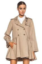 $895 Red Valentino Canvas Polyamide Double-Breasted Flared Trench Coat