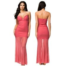 Sexy Strapless Bodycon Sweetheart Neck Maxi Dress Formal Party Evening Long Gown