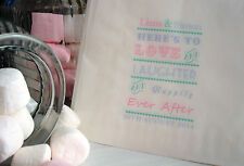 Personalised Whtie Paper Sweet Bags - Vintage Wedding Candy Cart Sweet Buffet