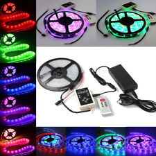 5M 10M 15M  5050 RGB Dream Color 6803 IC LED Strip 133 Change+ RF Rmote +Power