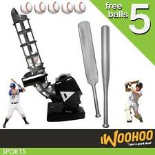 Kids Cricket Baseball Bowling Machine - Includes FREE pack of 5 balls