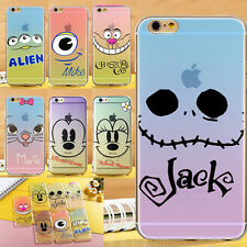 Cute Animals Big Face Clear TPU Soft Rubber Case Cover For iPhone 5 5S 6 6 Plus