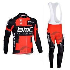 BMC Cycling Clothing Jersey & Bib Pants Kit Sets Coolmax Padding A419