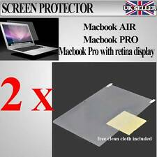 "MacBook AIr / Pro / pro Retina 11"" 13"" 15"" Screen Protector Cover Guard 2 PACK"