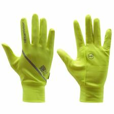 Karrimor Gloves Mens Running Sports Key Holder Pocket Mens Yellow M/L New