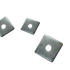 BZP, Bright Zinc Plated - Square Plate Washers M10 M12 50mm x 3mm