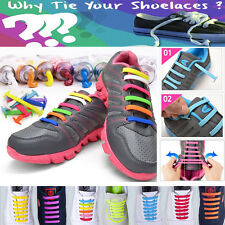 Elastic No tie shoelaces Silicone speed strings for Running Walking Sneakers lot