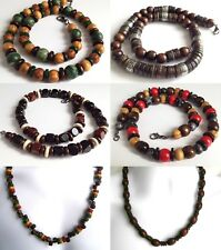 """ETHNIC INSPIRED: MENS CHUNKY NECKLACE CHOOSE SIZE 16-32"""" SURFER AFRICAN STYLE"""