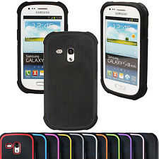 Hybrid Shock Proof Silicone Back Case Cover for Samsung Galaxy S3 Mini i8190