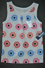 Girls Old Navy White Daisy Floral Shirt Sleeveless Tank Top, Size Choice