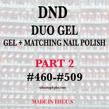 DND DAISY DUO GEL W/ MATCHING LACQUER) NAIL POLISH SET - CHOOSE COLOR- PART 2